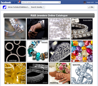 Preview the e-catalogue Facebook Application